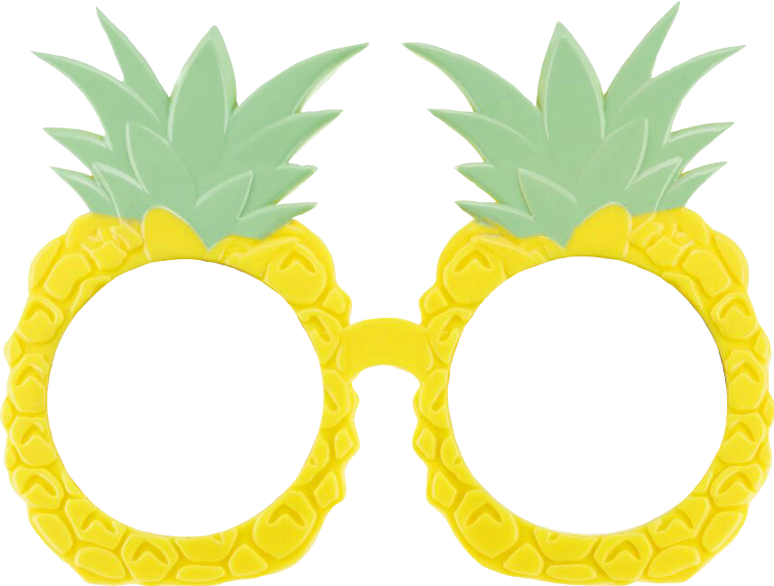 Summertime pineapples glasses sticker. Clipart person pineapple