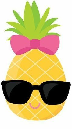 Cute clip art sunglasses. Pineapple clipart baby