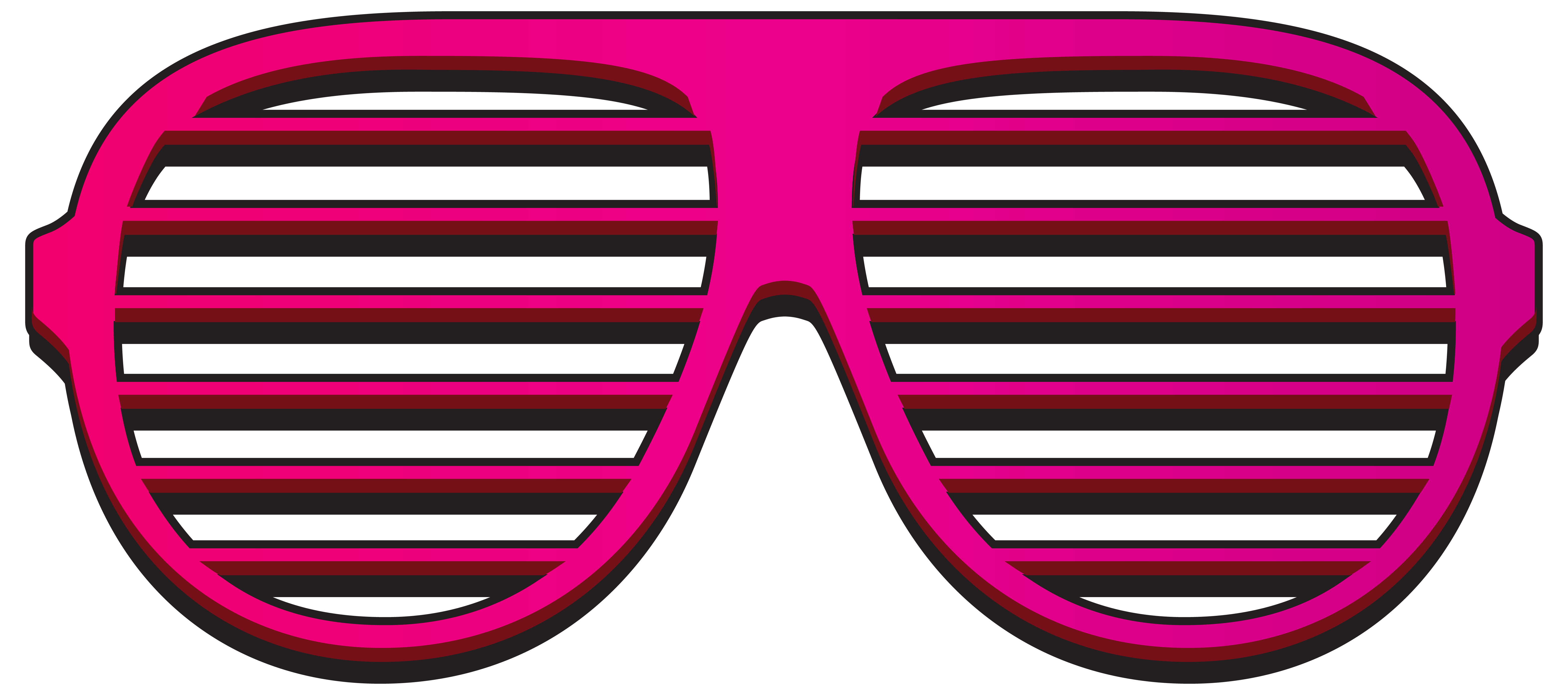 Pink shutter shades png. Watermelon clipart sunglasses