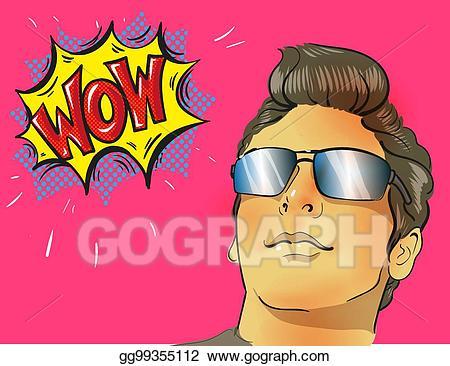 Eps illustration wow art. Clipart glasses pop