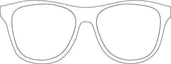 Sunglasses clipart glass frame. Printable glasses template black