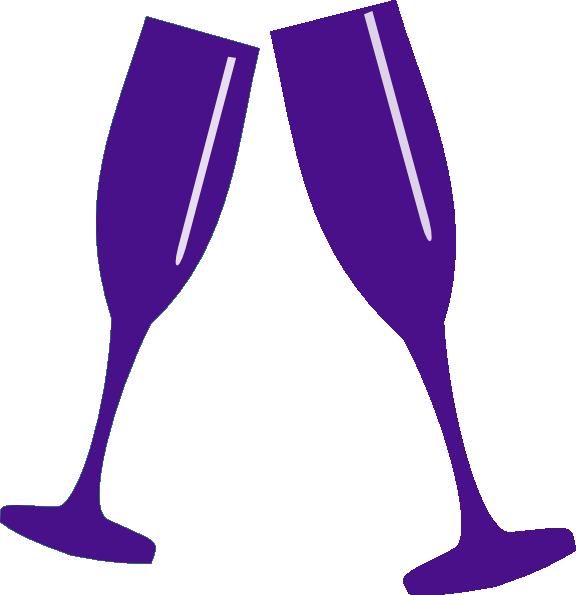 Champagne clip art at. Purple clipart wine glass