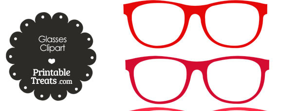 Glasses in shades of. Goggles clipart red glass