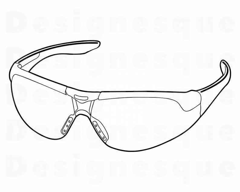 Outline svg files for. Glasses clipart safety