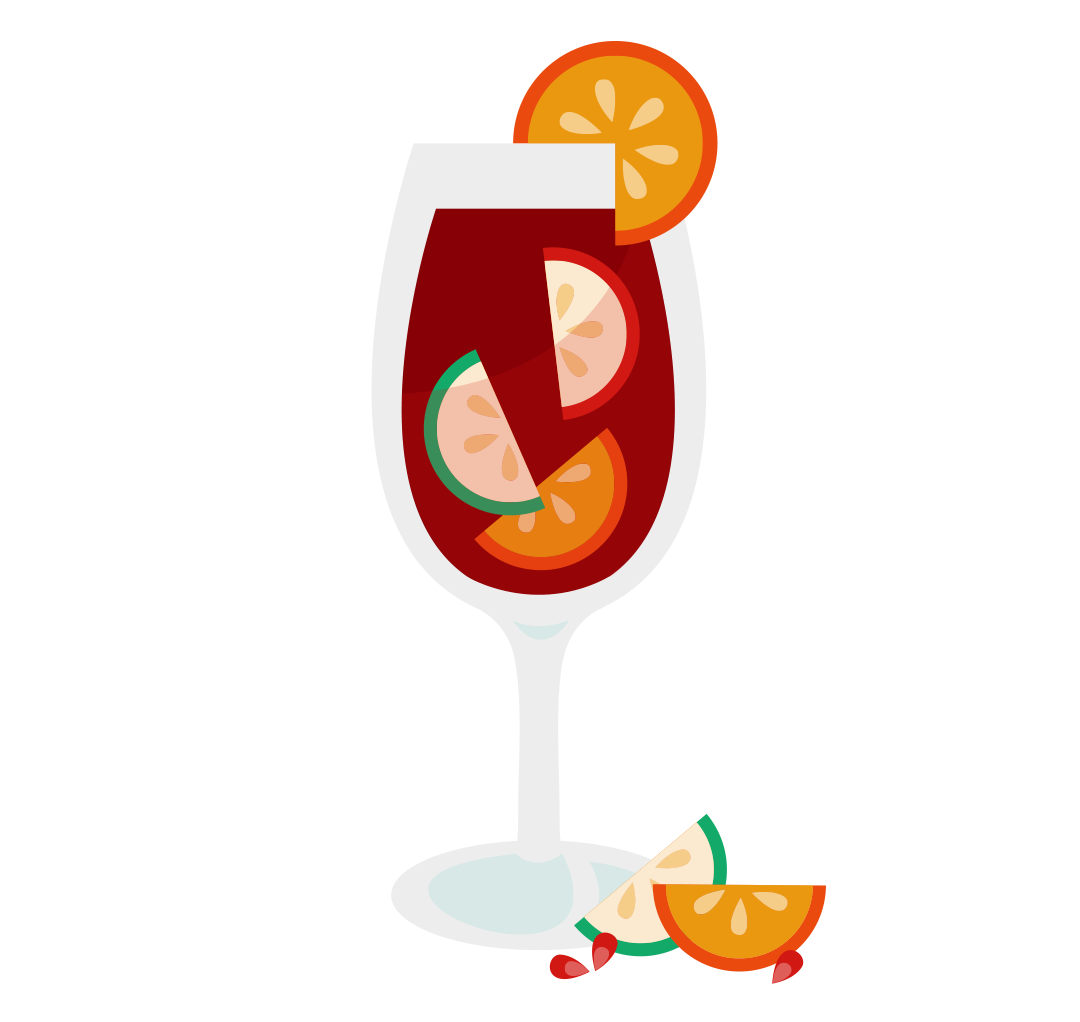 Drinks clipart welcome drink. Sangria wine glass pencil