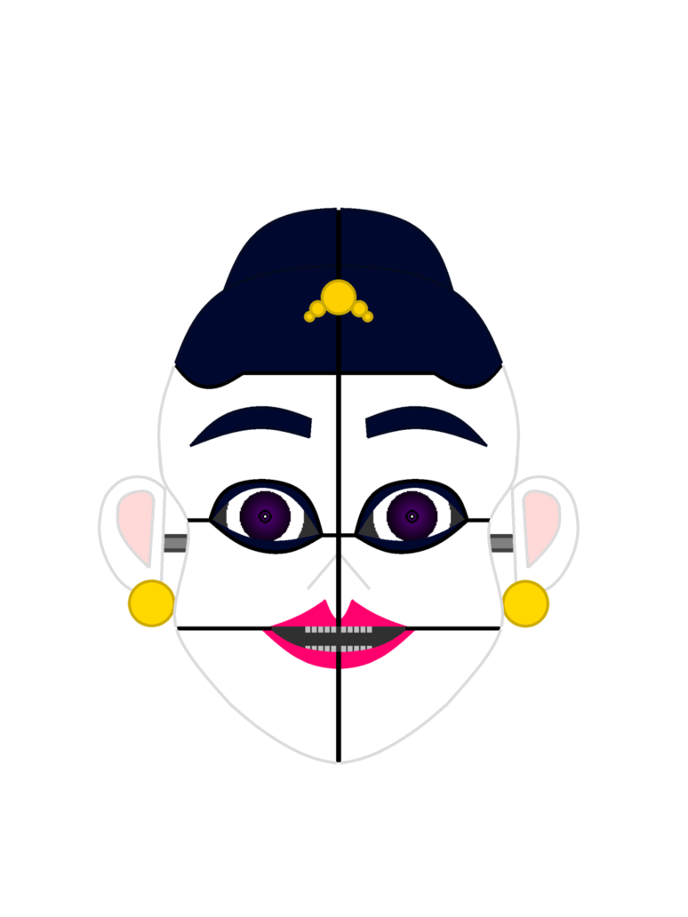 Eyebrow clipart glass mustache nose. Stylized ballora mask coloured