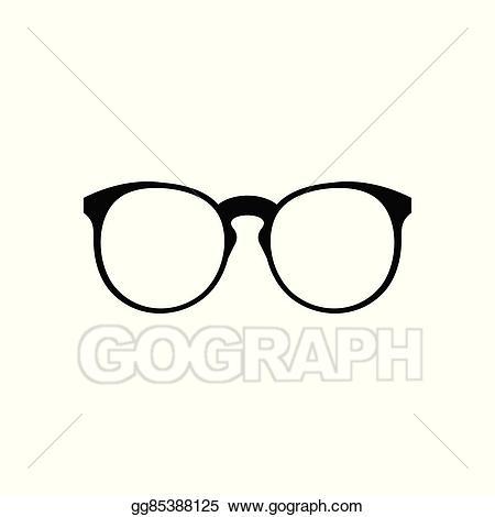Vector illustration eyeglasses icon. Clipart glasses simple