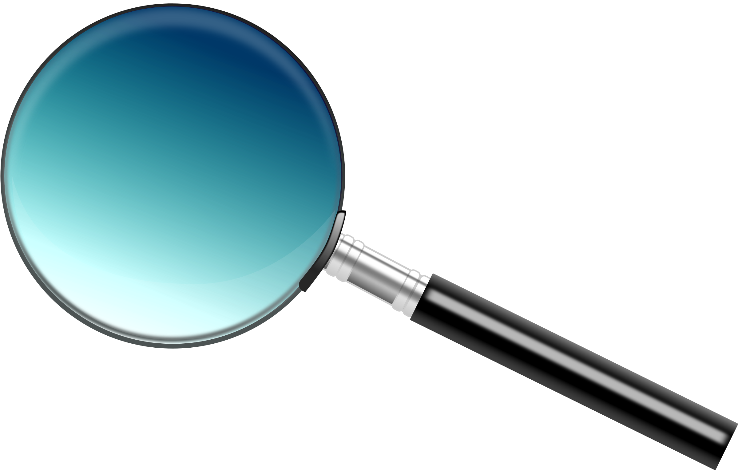 A simple big image. People clipart magnifying glass