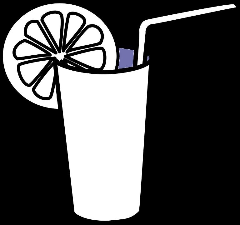 Drink free download best. Glass clipart lemon