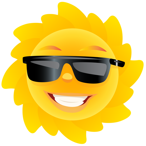 Cute sun transparent png. Clipart summer sunglass