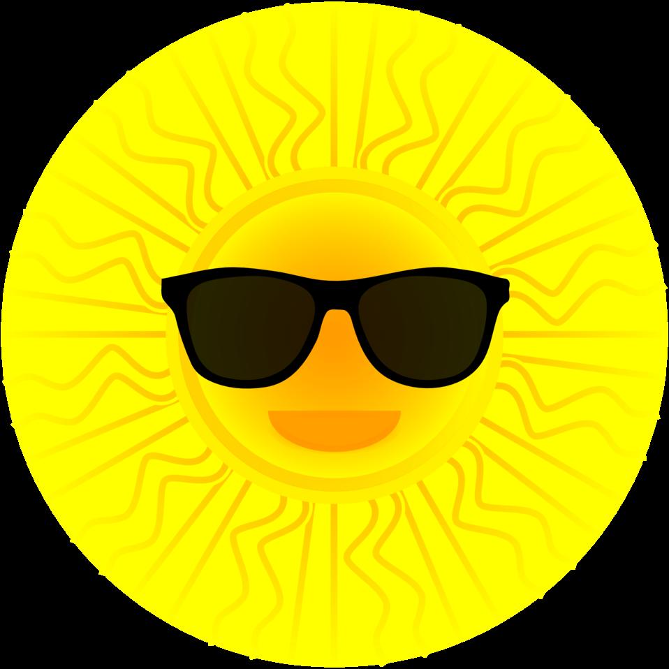 Public domain clip art. Sunglasses clipart emoticon
