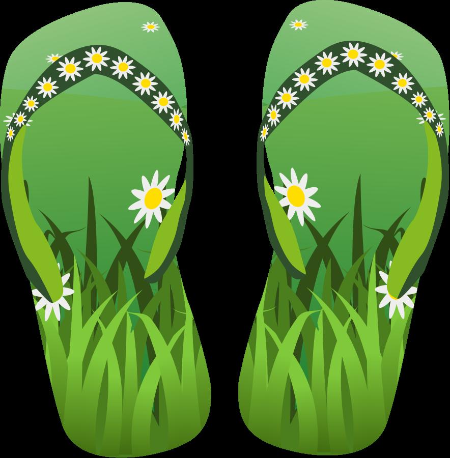 green clipart flip flop