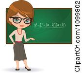 Friendly brunette female math. Glasses clipart teacher