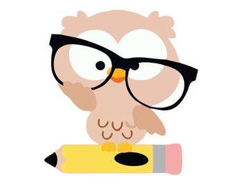 Glasses teacher silhouette svg. Owl clipart professor