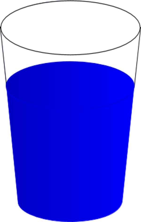 Water drinking glass pencil. Cup clipart plain
