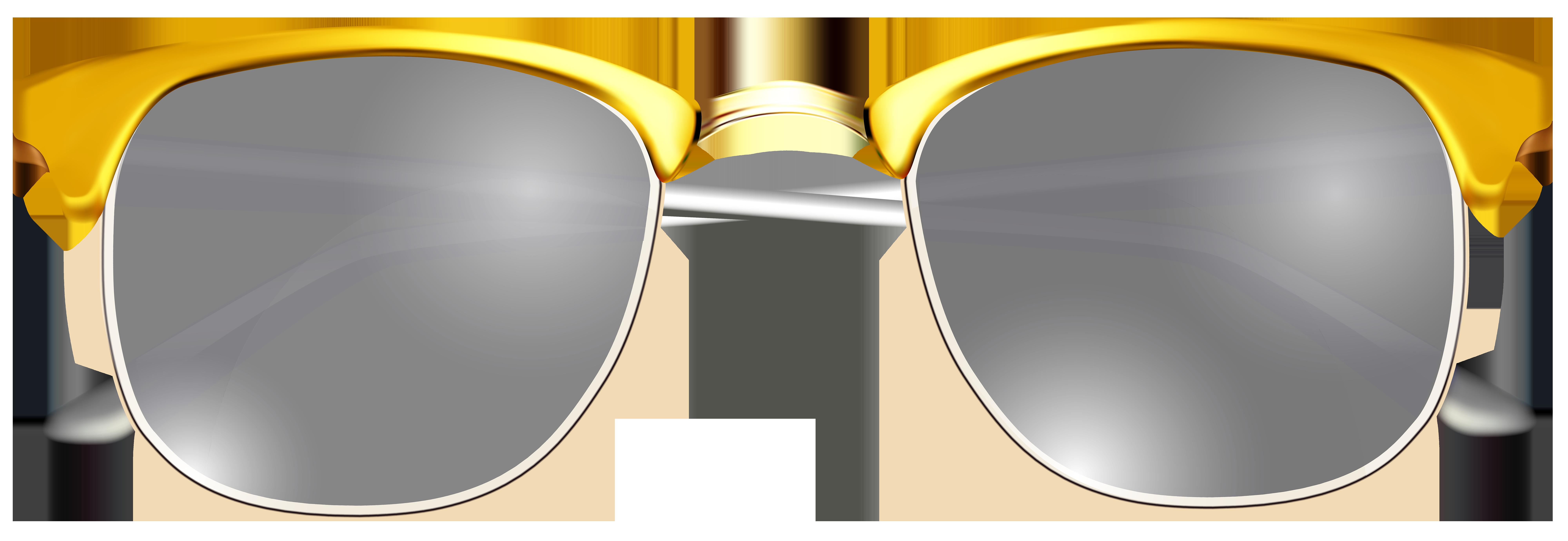 Transparent clip art image. Sunglasses clipart gold