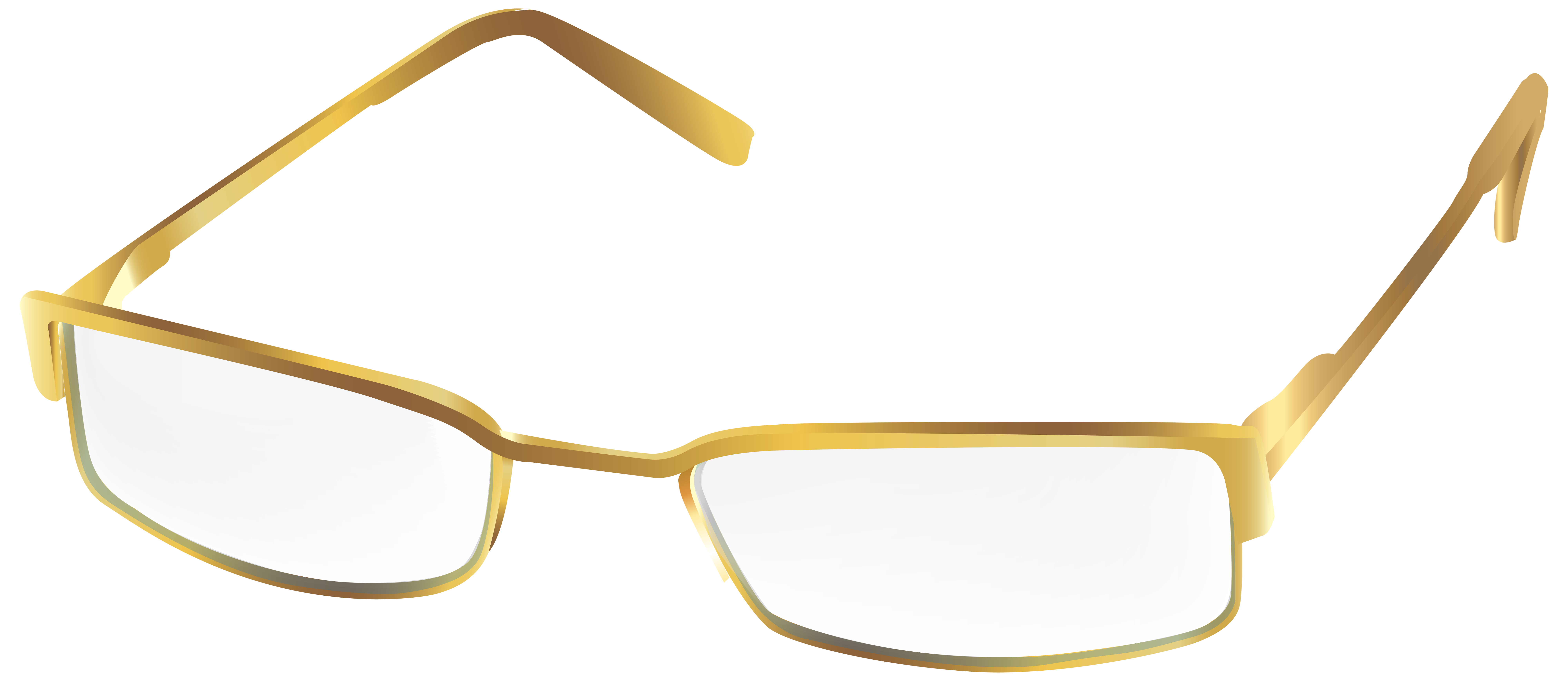 Clipart sunglasses spectacle frame. Gold glasses png transparent