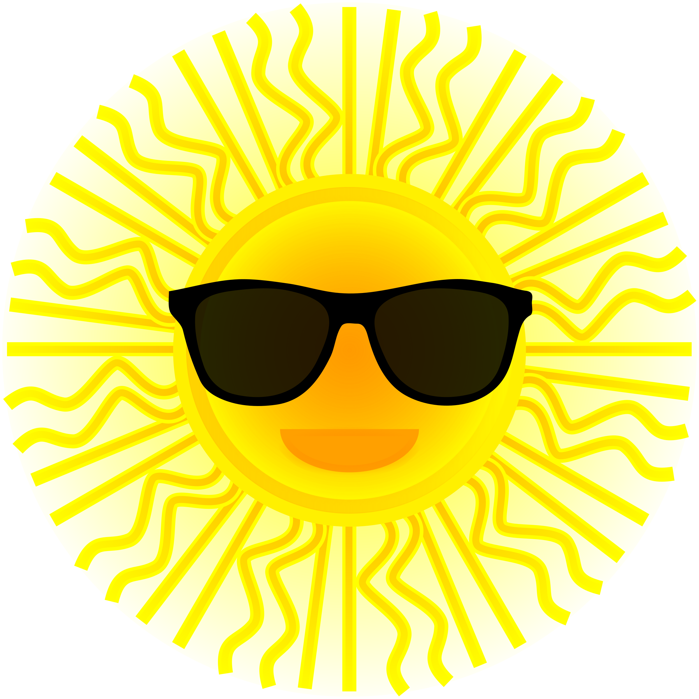 Clipart sun reading. With sunglasses big image