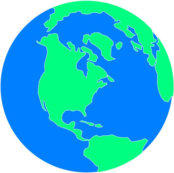 Planets clipart carton. Flat cartoon globe clip