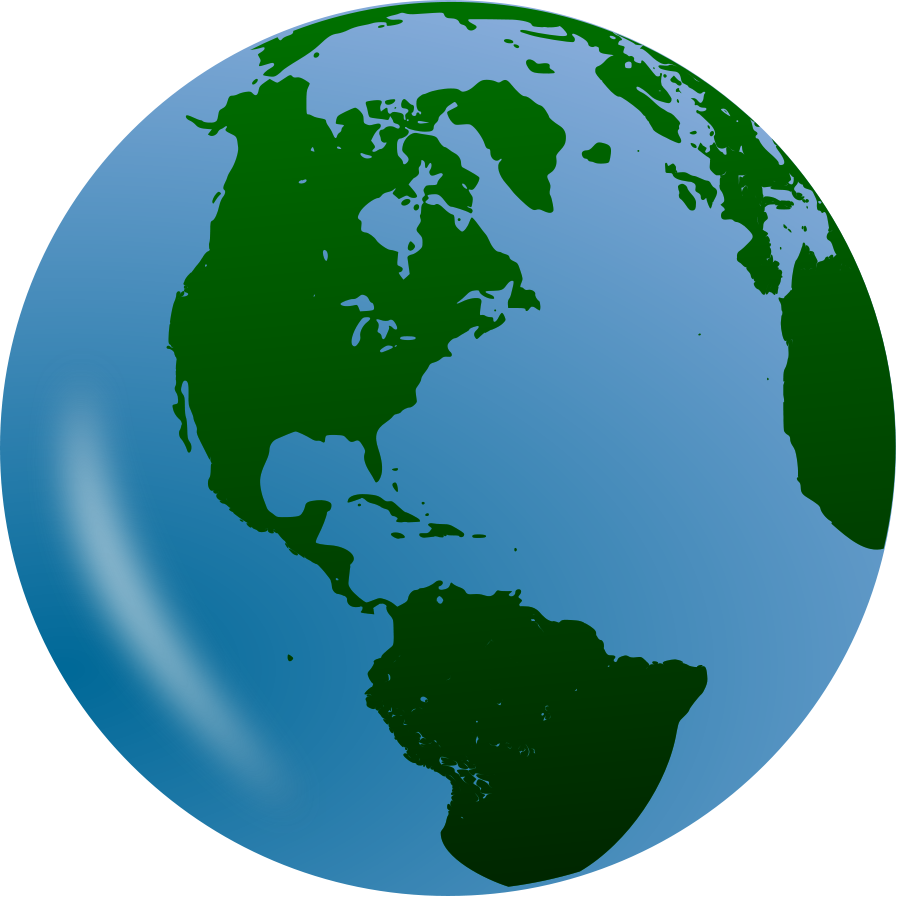Earth free bold design. Planet clipart animated globe