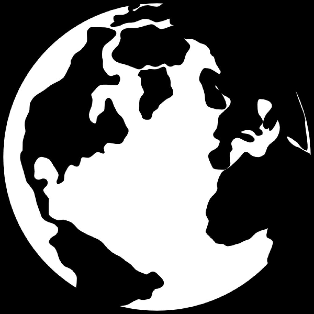 Earth dinosaur hatenylo com. Globe clipart black and white