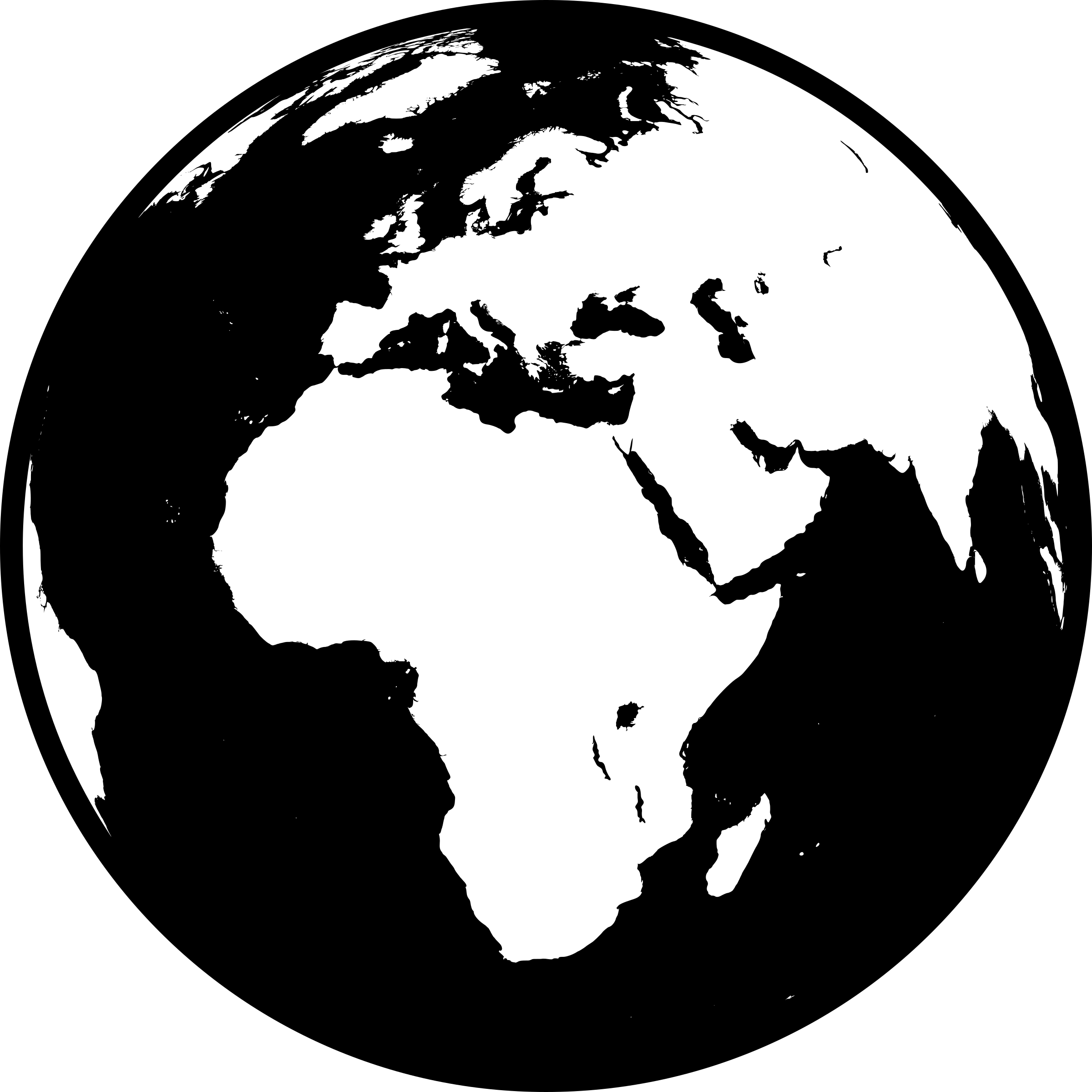 collection of globe. Europe clipart outline