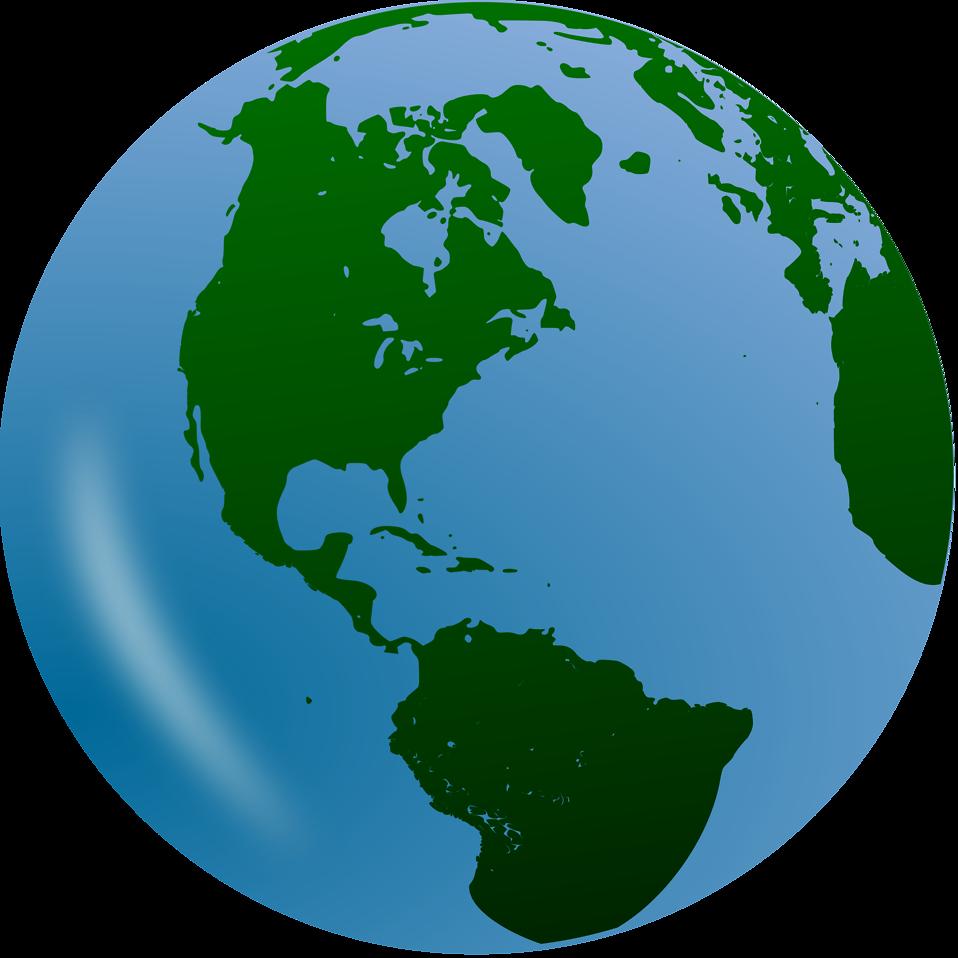 Globe clipart broken. World information technology background