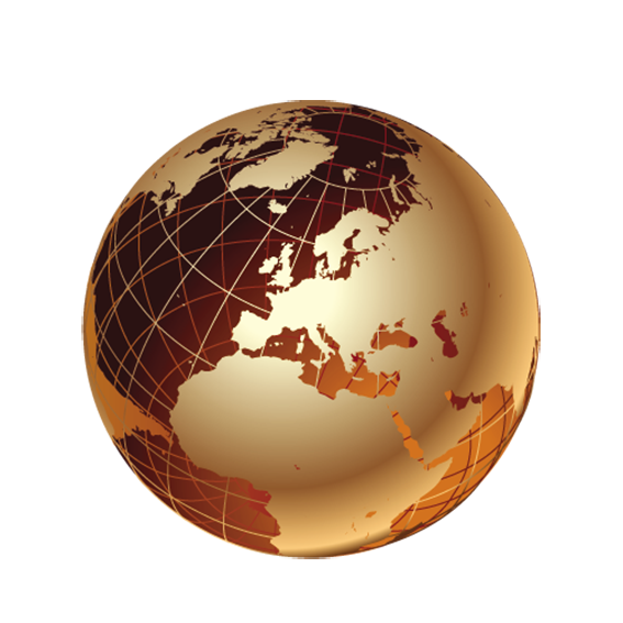 Golden award transparency and. Globe clipart brown