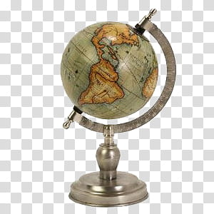Old times and green. Globe clipart brown