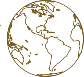 Image png svg clip. Globe clipart brown