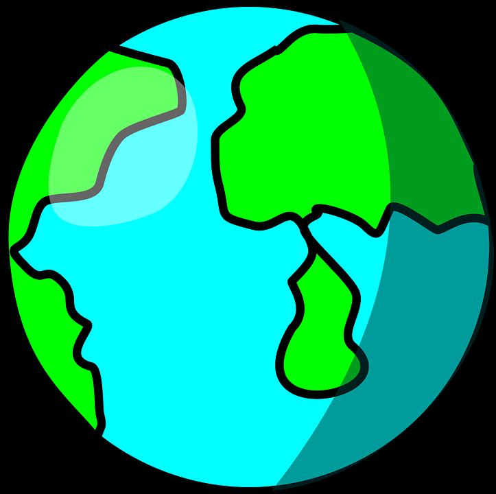 Planet clipart science. Cartoon world globe shop