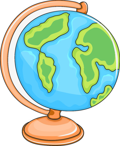 Creative history transparent png. Globe clipart cartoon