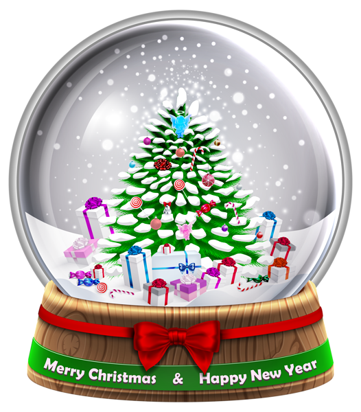 Transparent snowglobe png clip. Mailbox clipart holiday