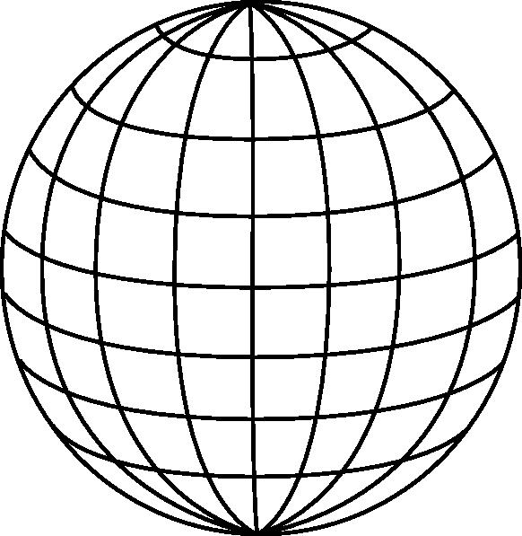 Pt wire clip art. Globe clipart black and white