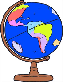 Free colorful graphics images. Clipart globe colourful