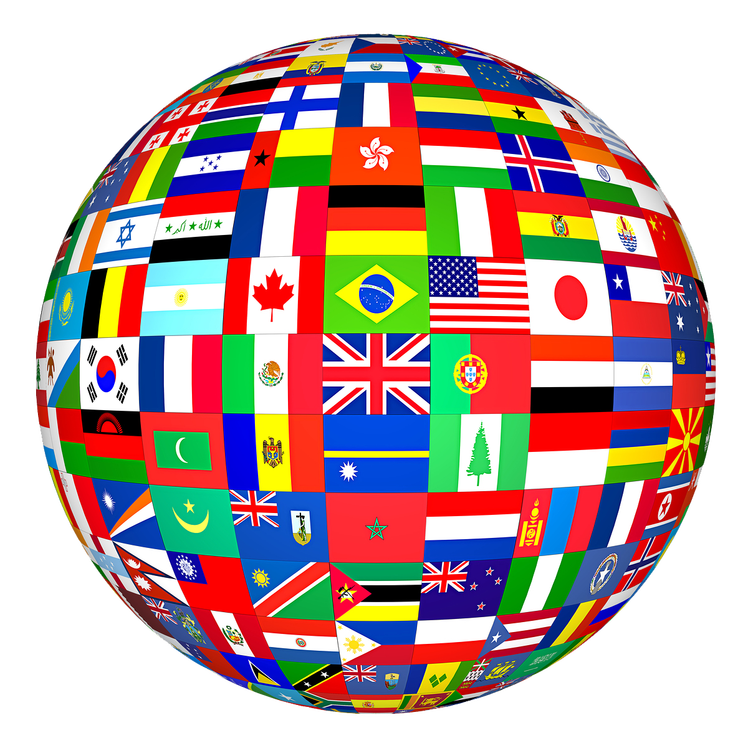 Blog and knowledge management. Globe clipart culture