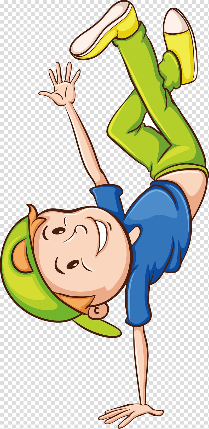 Hip hop dance child. Clipart globe dancing