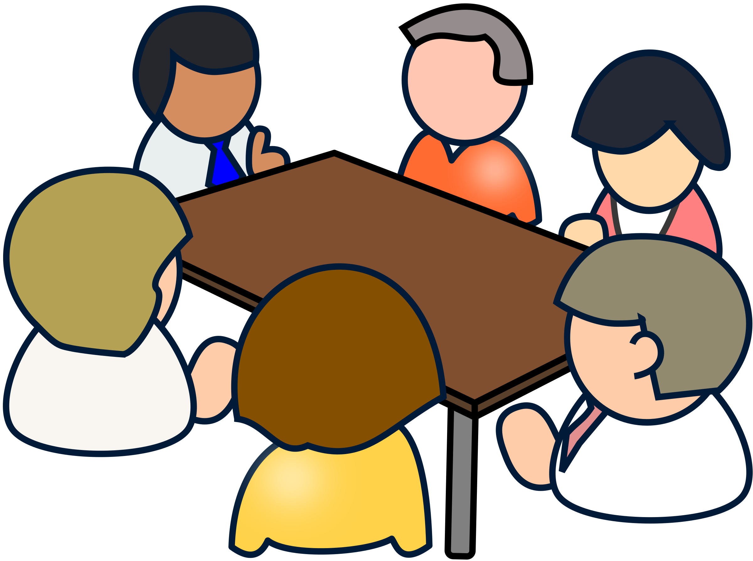 Diverse meeting icons png. Conversation clipart in depth