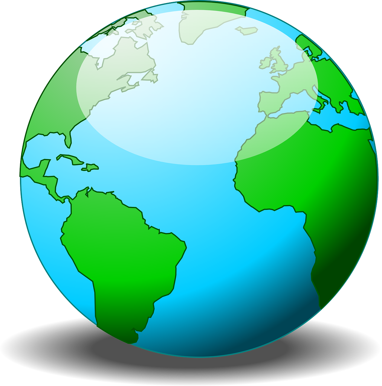 How to draw on. Clipart globe easy