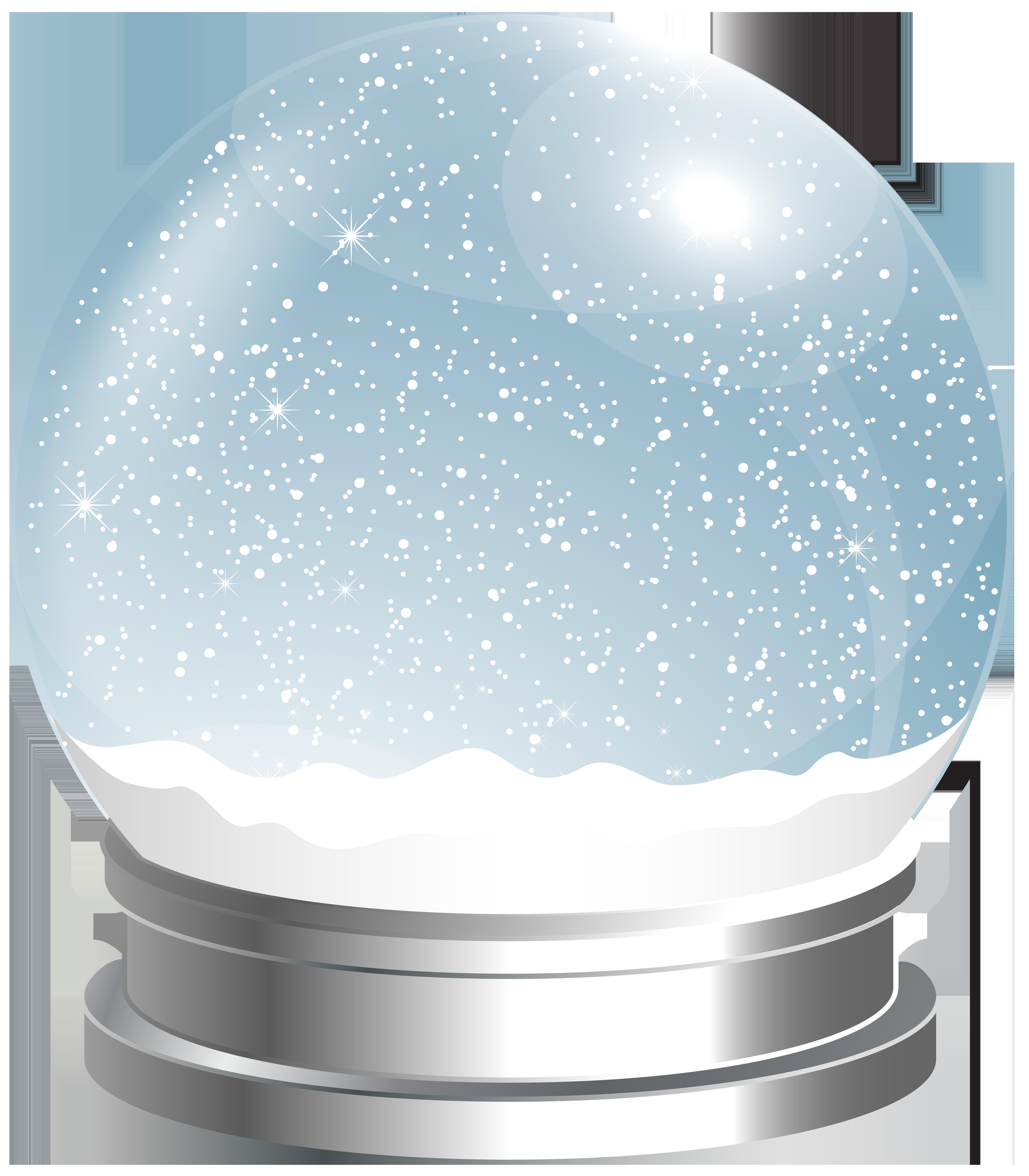 Empty globe png clip. Glitter clipart snow
