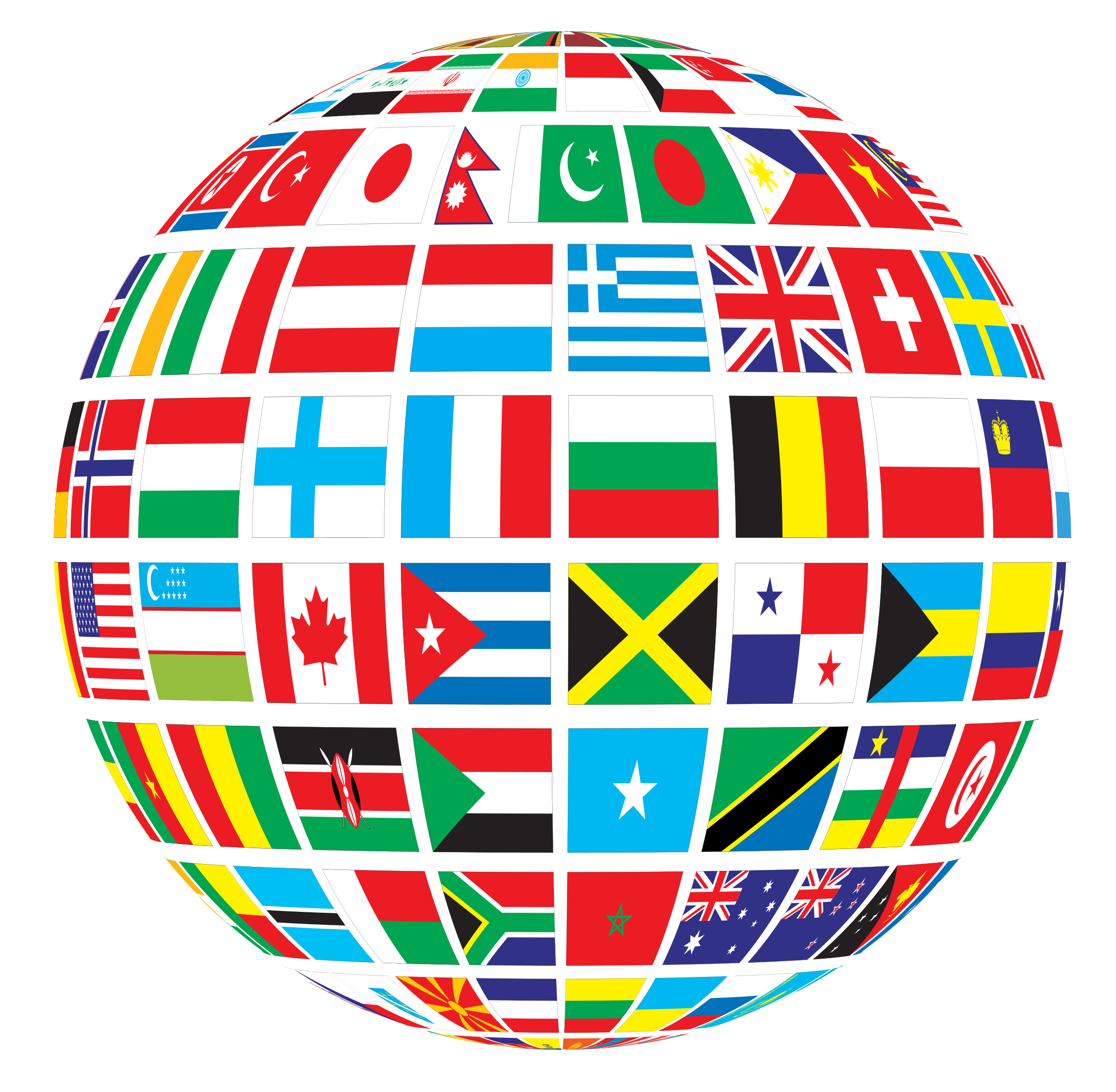 Missions clipart international flag. World flags globe by