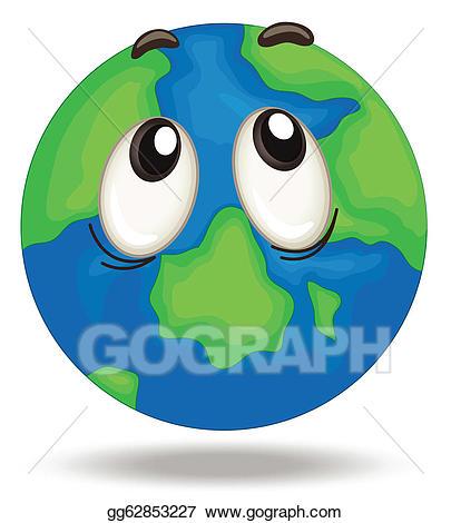 Vector stock illustration gg. Globe clipart face
