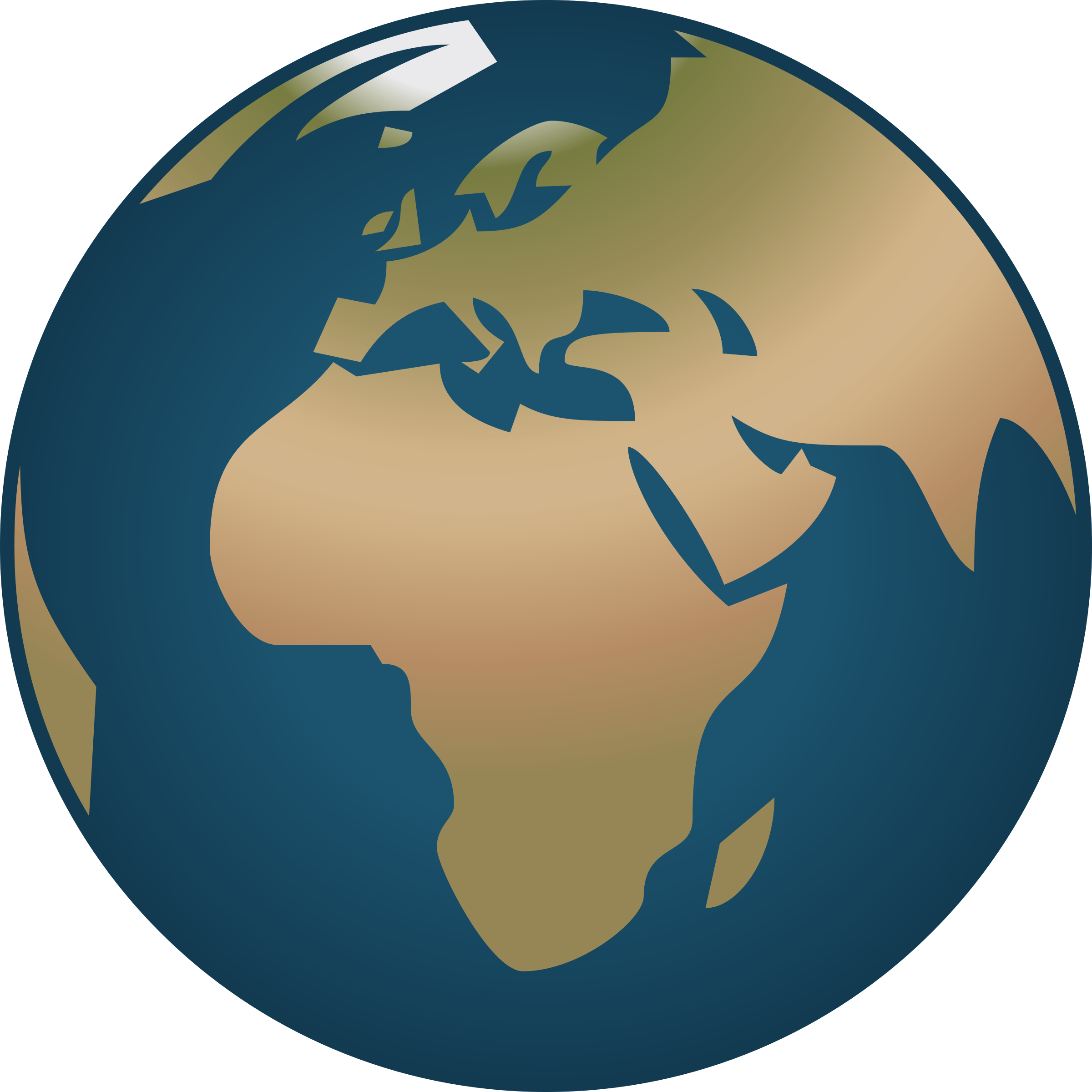 Simple globe facing and. Europe clipart animated