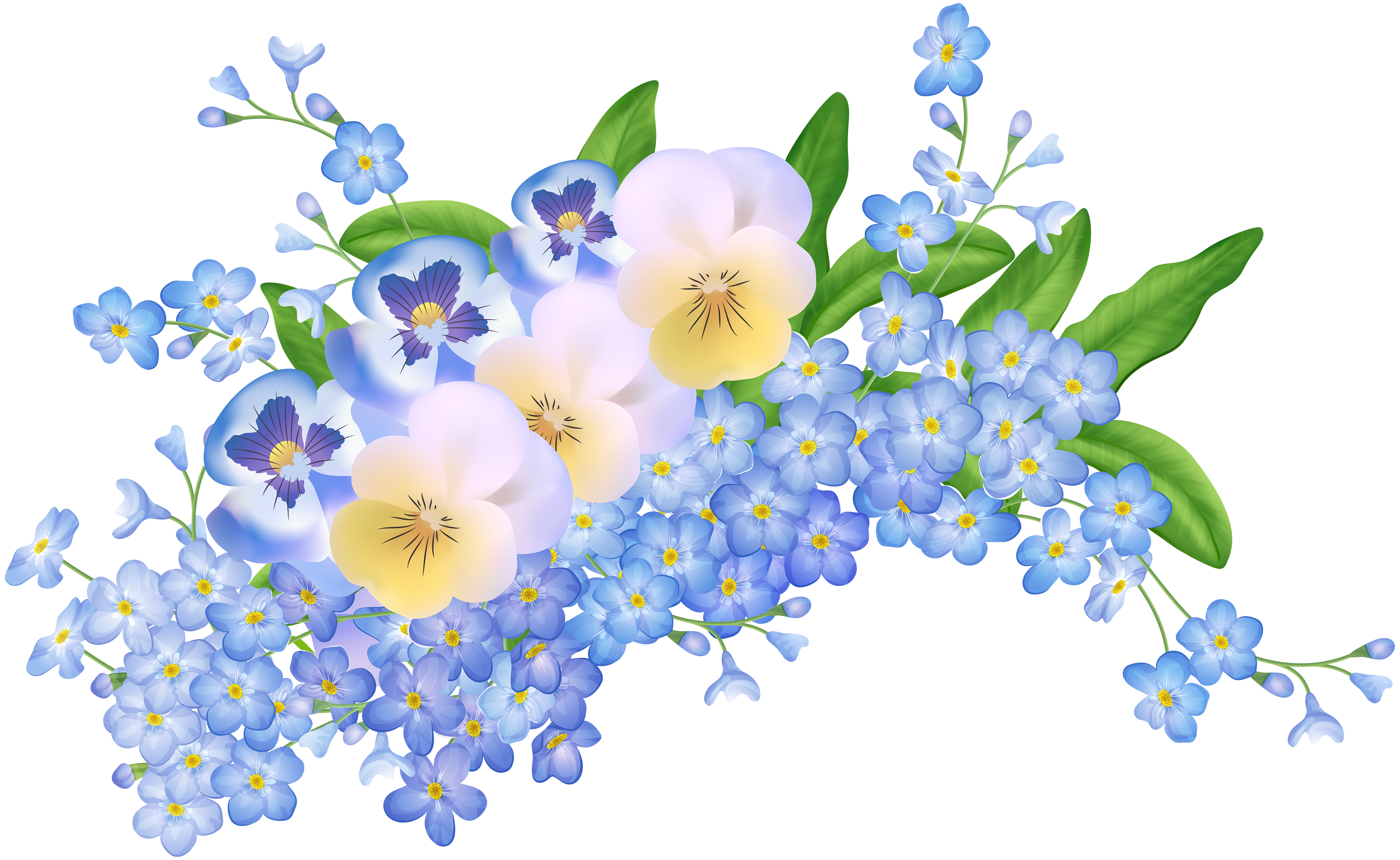 Floral clipart spring. Flowers decoration transparent png