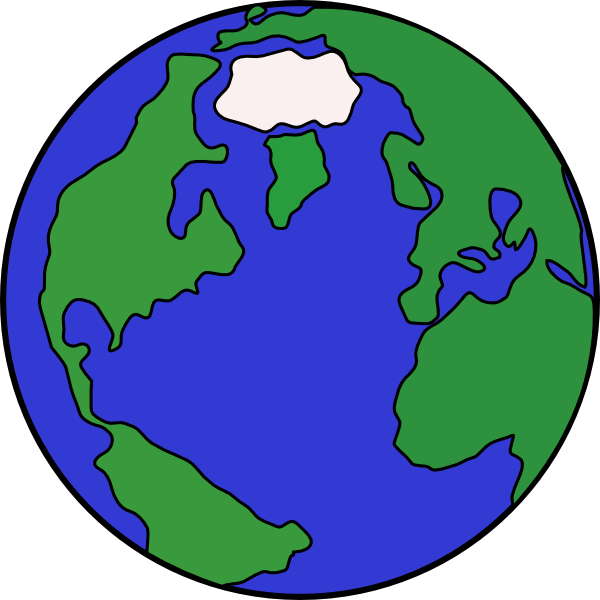 Globe clip art at. Planet clipart simple