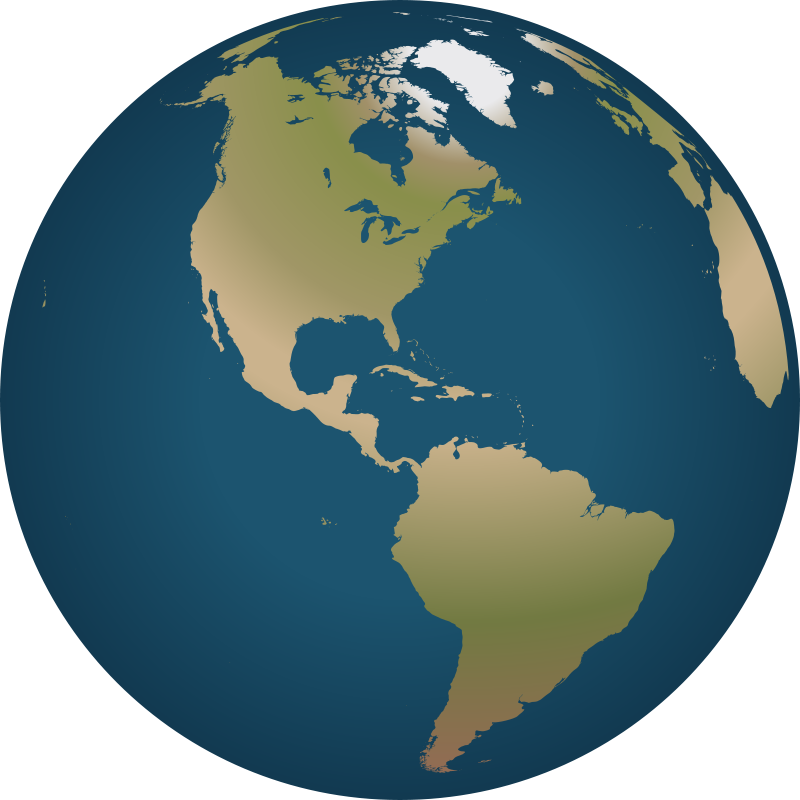 Clipart globe gambar. World clip art blue