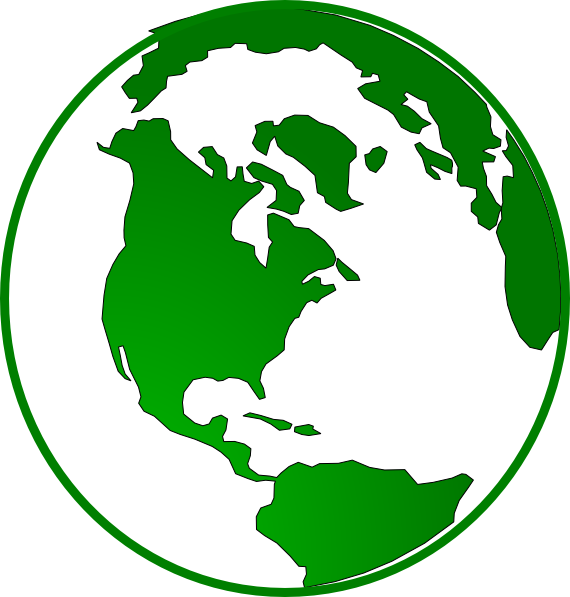 Green clip art at. Clipart globe gambar