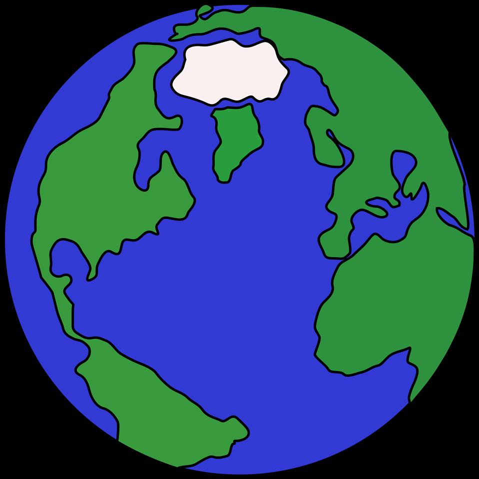 Clipart globe geography. Free stock photo illustration
