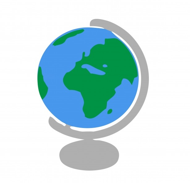 Clipart globe geography. Station