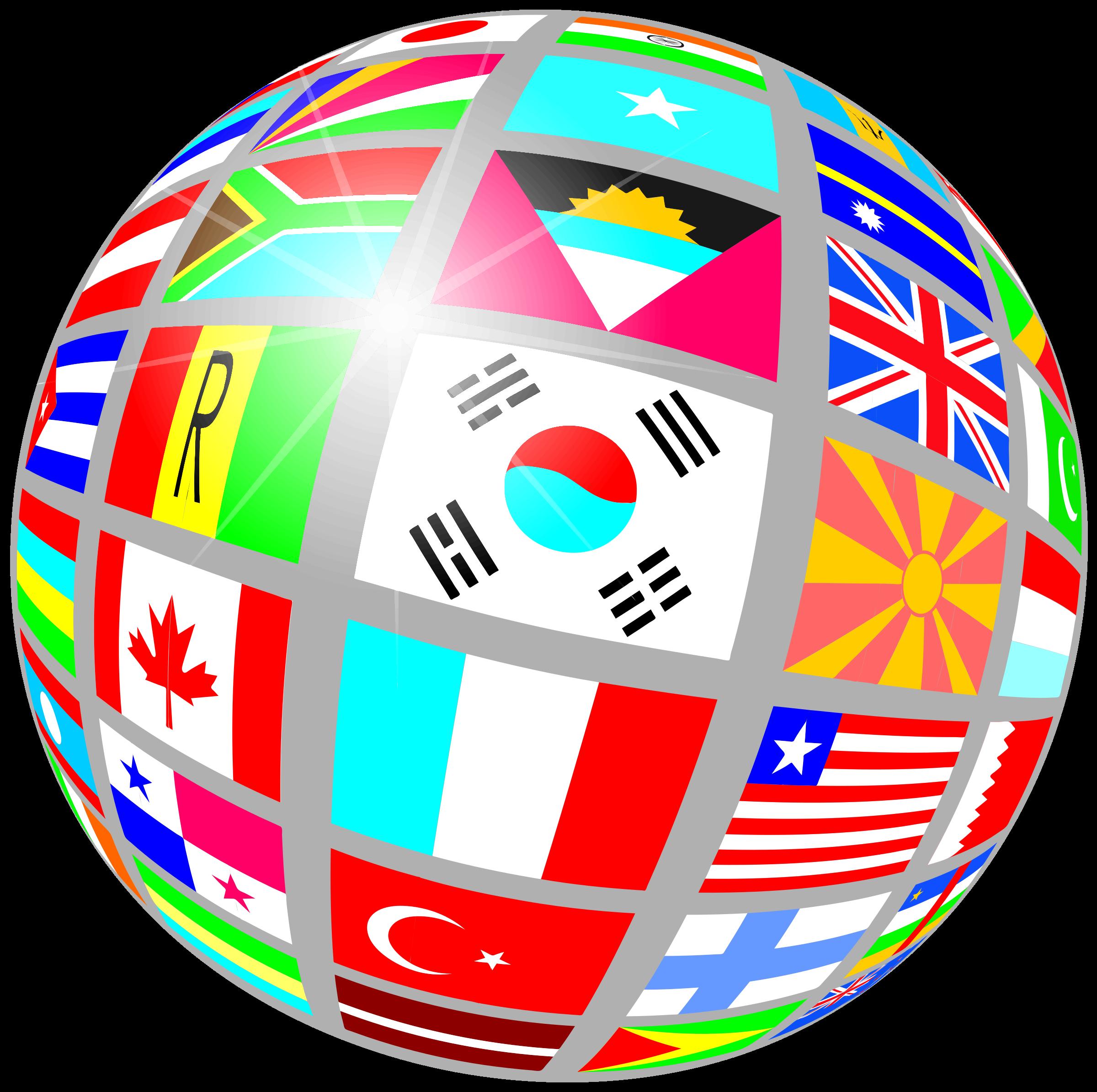 Of flags. Clipart globe globe world